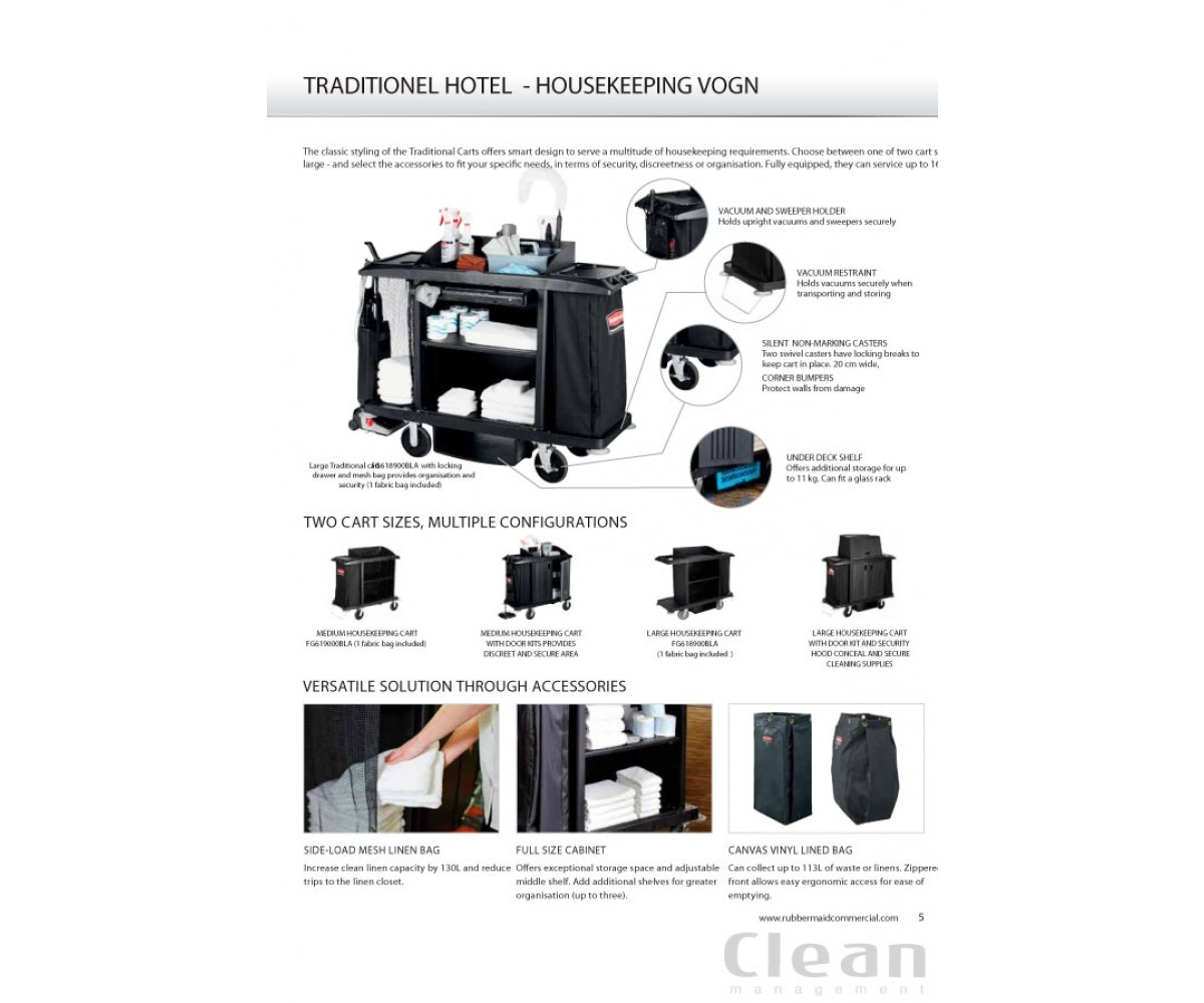 High Capacity Housekeeping Hotelvogn, stor-01