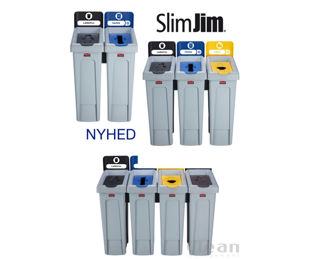 affaldsstation slimjim rubbermaid NYHED