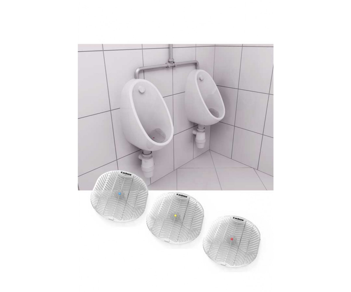 Urinal måtter, Anti-splash V-screen 3 varianter-31