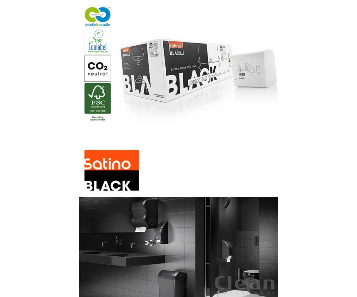 Satino Black, toiletpapir i ark Briq-01
