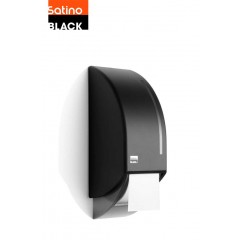 Satino Black dispenser, toiletpapir, systemrulle