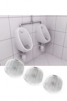 Urinal måtter, Anti-splash V-screen 3 varianter-20